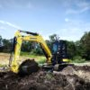 True Zero Tail Swing Mini Excavator, Yanmar Vi045-6B & Vi055-6B